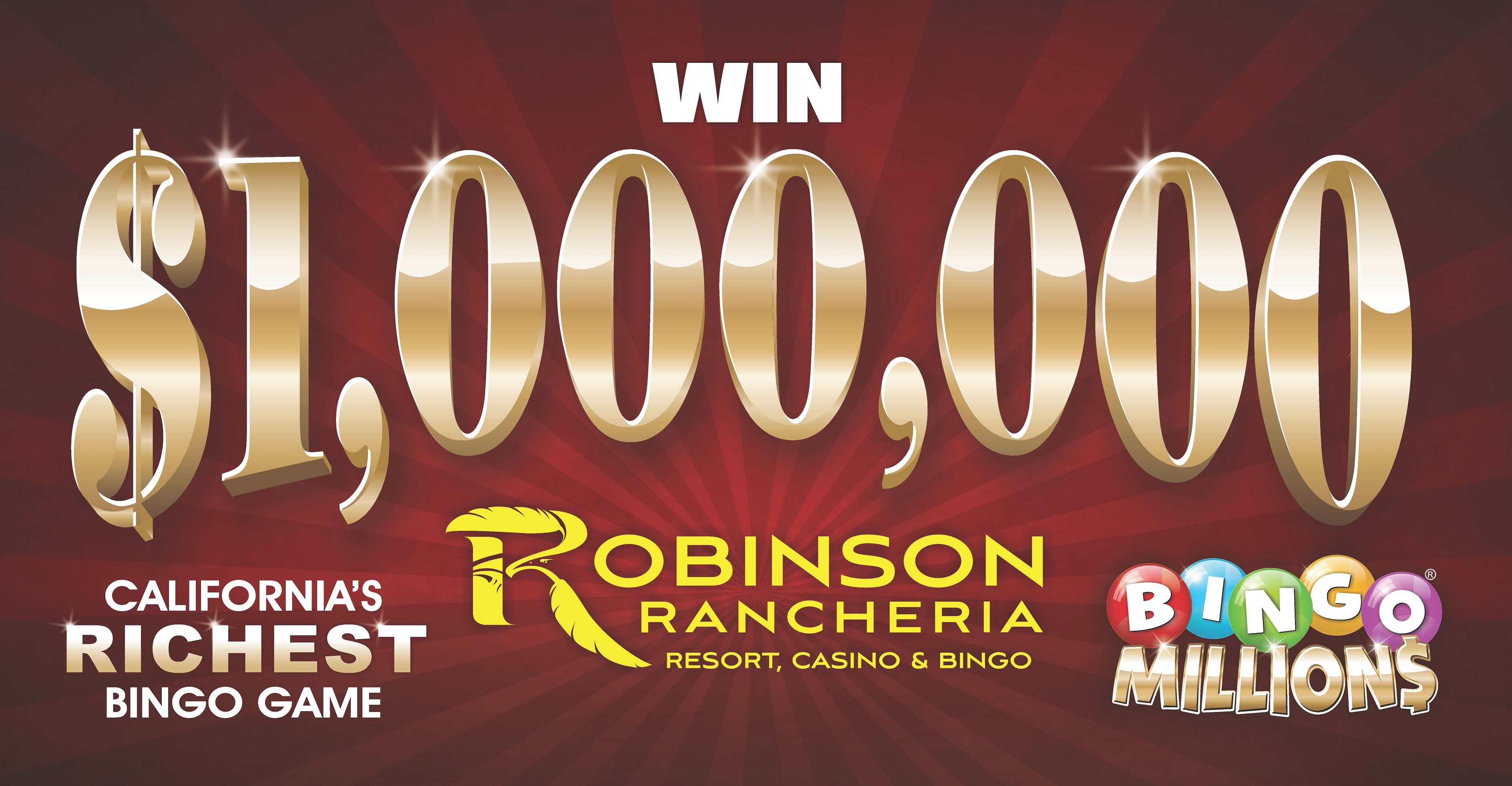 Bingo Millions® Win 1 MILLION dollars!