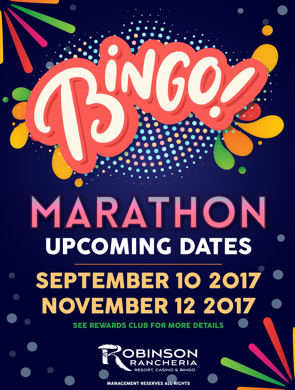 bingo-marathon robinson rancheria casino